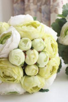I fogli sono fiori di fioritura di nozze verde fiorisce la damigella d'onore