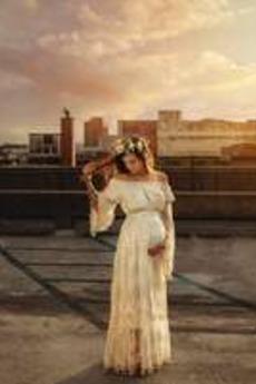 Vestito da nozze Sovrapposizione di pizzo Vita alta Spiaggia Vita dell'Impero