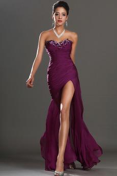 Vestito da ballo Tesoro Perline Fessura alta-fessura Affascinante