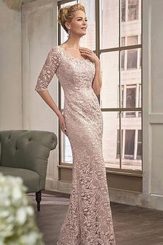 Madre dei vestito da sposa Classico Maglietta Pera Chiusura lampo