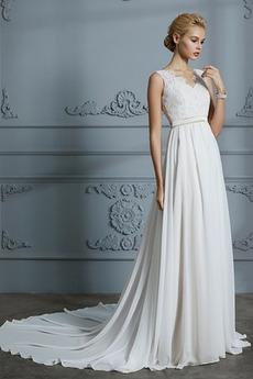 Vestito da nozze Pulsante Elegante A-line Medio Vita naturale