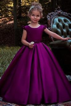 Vestito dalla bambina Senza maniche Inverno A-line Lunghezza piano