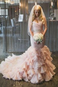 Vestito da nozze Senza schienale Drappeggiato All Aperto Estate