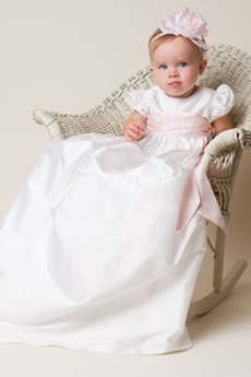 Abito di battesimo Alto coperto Principessa Gioiello Bow accentati