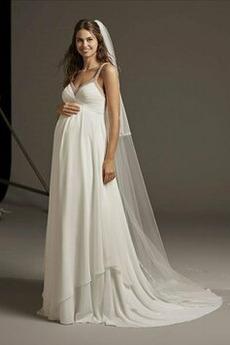 Vestito da sposa Impero Sala Semplici Lungo Vita dell'Impero Premaman