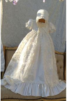 Vestito di battesimo Vita naturale Alto coperto Maniche corte
