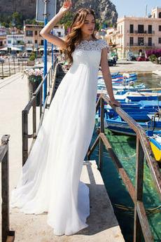 Vestito da sposa Drappeggiato Strascico spazzata Vita naturale