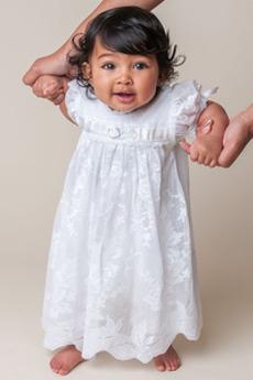 Vestito dalla bambina Tulle Maniche corte Gioiello Rosetta accentato