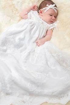 Vestito di battesimo Maniche a palloncino Con fiocchi Principessa
