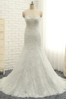 Vestito da sposa Primavera Elegante Ciondolo accentato gioiello