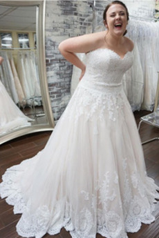 Vestito da sposa Coda A Strascico Corto Tesoro Chiusura lampo