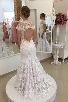 Vestito da sposa Sirena Autunno Coda A Strascico Cappella Delicato