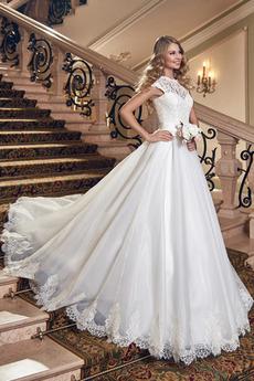Vestito da nozze Pizzo Vita naturale Gioiello Fusciacche Allacciare