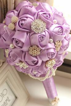 Il bouquet di sposa di cerimonia nuziale su ordinazione di alta gamma di fascia alta