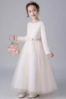 Vestito dalla bambina Gioiello Chiusura lampo Cerimonia Con fiocchi