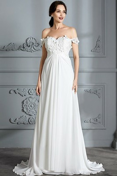 Abito da sposa Impero Pick-up Corsetto pieghettato Vita dell'Impero