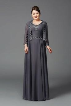 Madre dei vestito da sposa Drappeggiato Alto coperto A-line Taglia larga