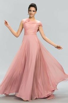 Vestito da ballo Elegante Medio Senza maniche Spazzare treno Buco della serratura