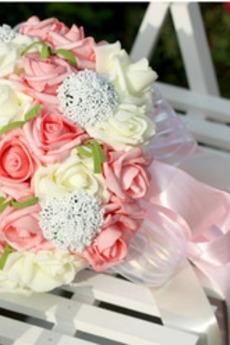 Simulazione 30 filati elettrici con il bouquet di spose rosa in tutta la stella del cielo