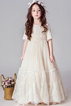 Vestito dalla bambina Chiusura lampo Palla Medio Pizzo Maglietta