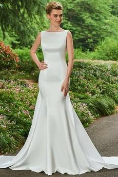 Vestito da sposa Sirena Centro dietro Con fiocchi Elegante Sala