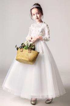 Vestito dalla bambina Medio Maniche lunghe Maglietta Rosetta accentato