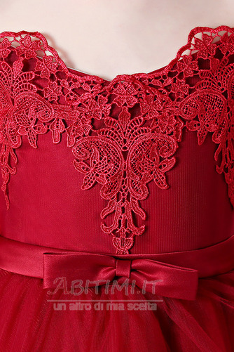Vestito da fiore ragazza Pizzo Asimmetrico Fuori dalla spalla - Pagina 5