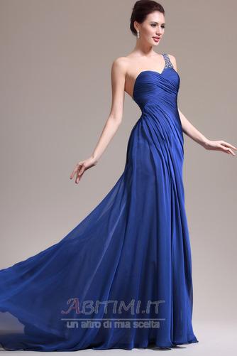 Vestito da sera Sirena Senza maniche Elegante Singola spalla Coda a Strascico Cappella - Pagina 3
