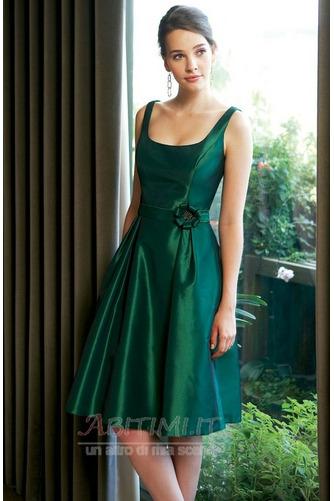 Vestito da damigella d'onore Vita naturale Paletta Semplici A-line - Pagina 1