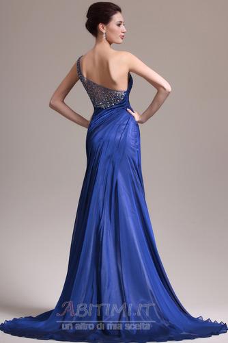Vestito da sera Sirena Senza maniche Elegante Singola spalla Coda a Strascico Cappella - Pagina 6