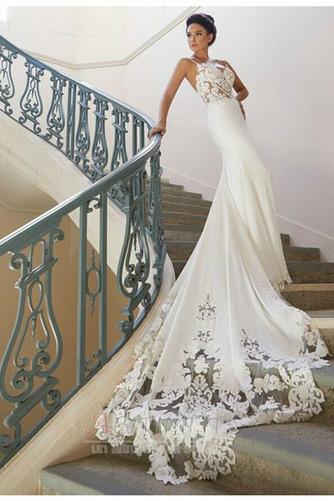 Abito da sposa Sirena Primavera Chiusura lampo Classico Canotta - Pagina 2