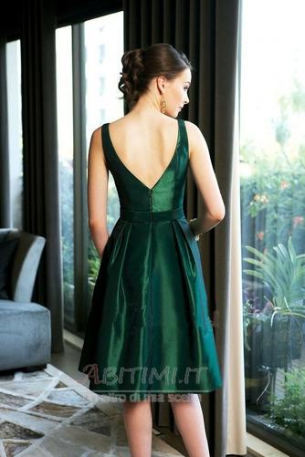 Vestito da damigella d'onore Vita naturale Paletta Semplici A-line - Pagina 2